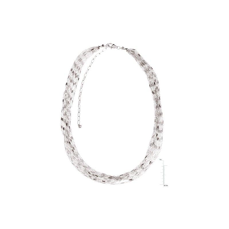 Ladies' Jewelry 12-Strand Bar Chain