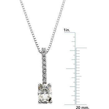 Moissanite & Diamond Necklace