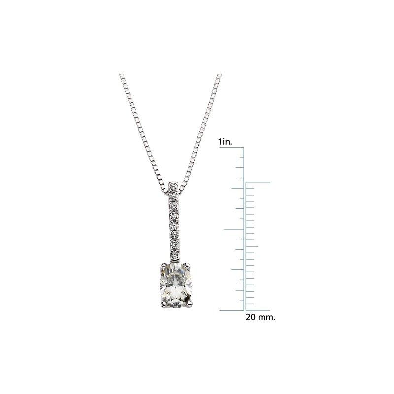 Ladies' Jewelry Moissanite & Diamond Necklace