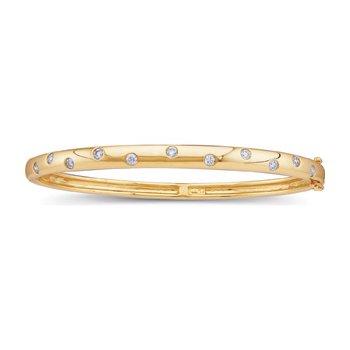 1/2 ct tw Diamond Bangle Bracelet