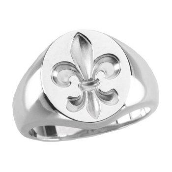 Mens Fleur-de-lis Ring