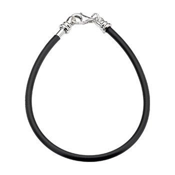 Kera Black Polyvinyl Bracelet