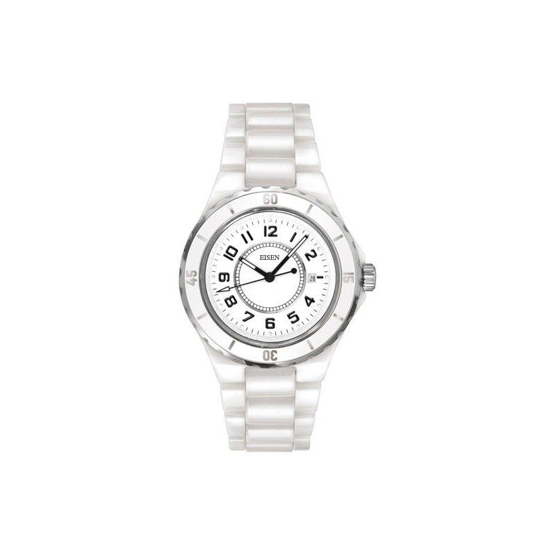 Eisen Watches Eisen Lady's White Ceramic Designer Quartz Wrist Watch