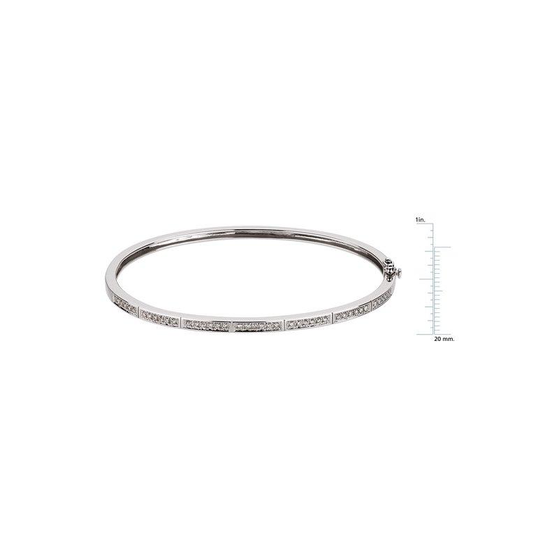 Ladies' Jewelry Hinged Diamond Bangle Bracelet