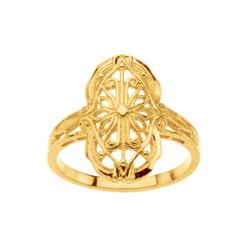 Ladies' Jewelry Gold Filigree Ring