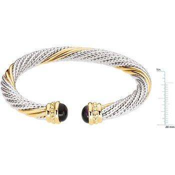 Genuine Amethyst Cable Bracelet