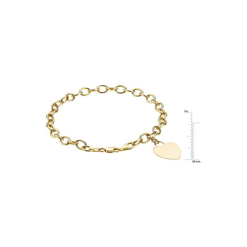 Ladies' Jewelry Heart Charm Bracelet