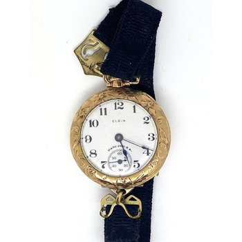 Lady's antique, gold tone, Elgin watch