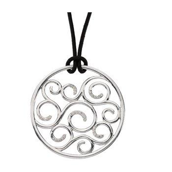 Diamond Scroll Necklace