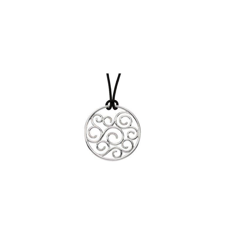 Ladies' Jewelry Diamond Scroll Necklace