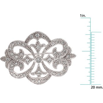 Diamond Brooch Pin