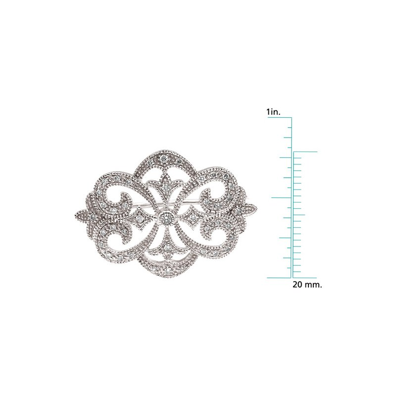 Ladies' Jewelry Diamond Brooch Pin