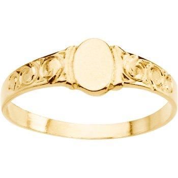 Children's Oval Signet Ring