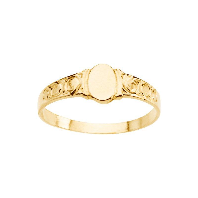Children's Jewelry Children's Oval Signet Ring