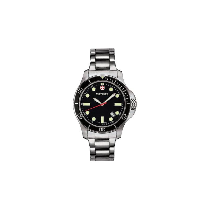Eisen Watches Wenger Mens Black Battalion III Diver Watch