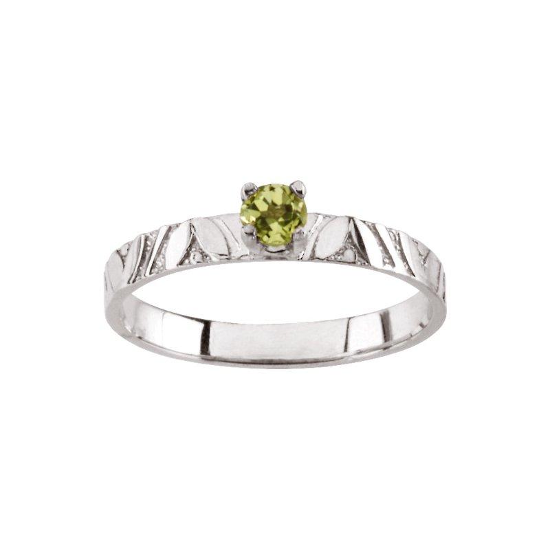 Birthstone Jewelry Children's Genuine Peridot August Birthstone Ring