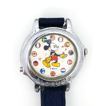 Lady's stainless steel Disney watch