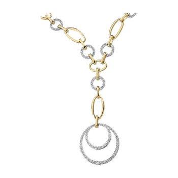 5/8 ct tw Two-Tone Diamond Necklace