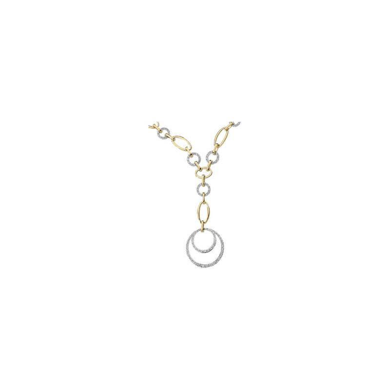 Holiday Ideas 5/8 ct tw Two-Tone Diamond Necklace