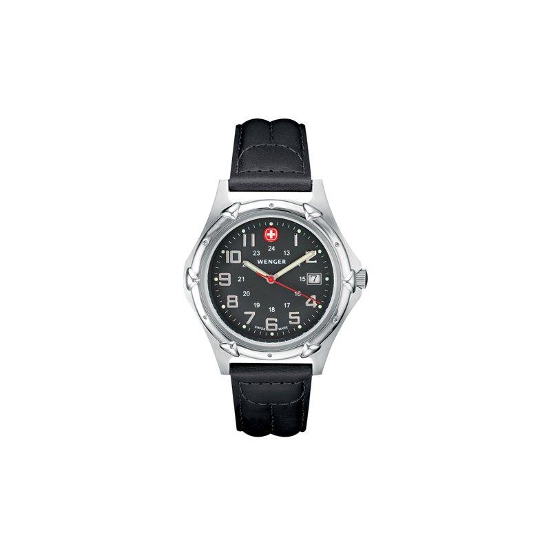 Eisen Watches Wenger Mens Black Standard Issue XL Watch