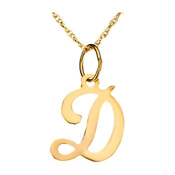 "Initial ""D"" Necklace"
