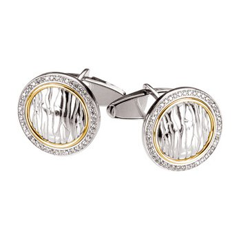 Men's Diamond Cuff Links