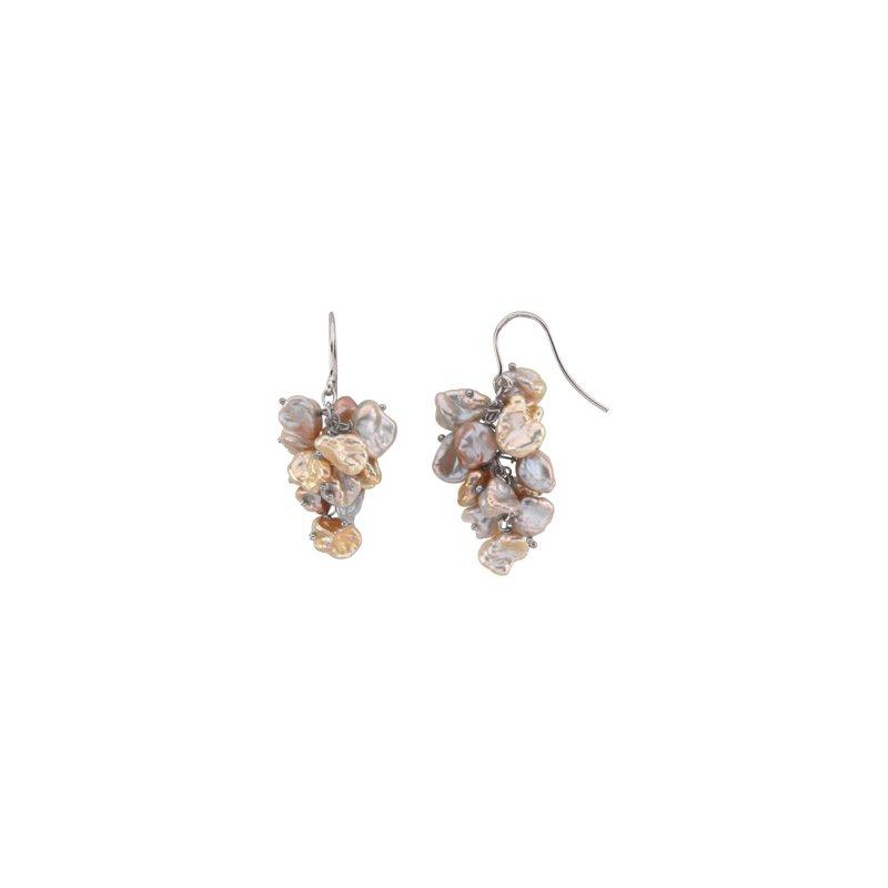 Ladies' Jewelry Freshwater Cultured Keshi Pearl Earrings