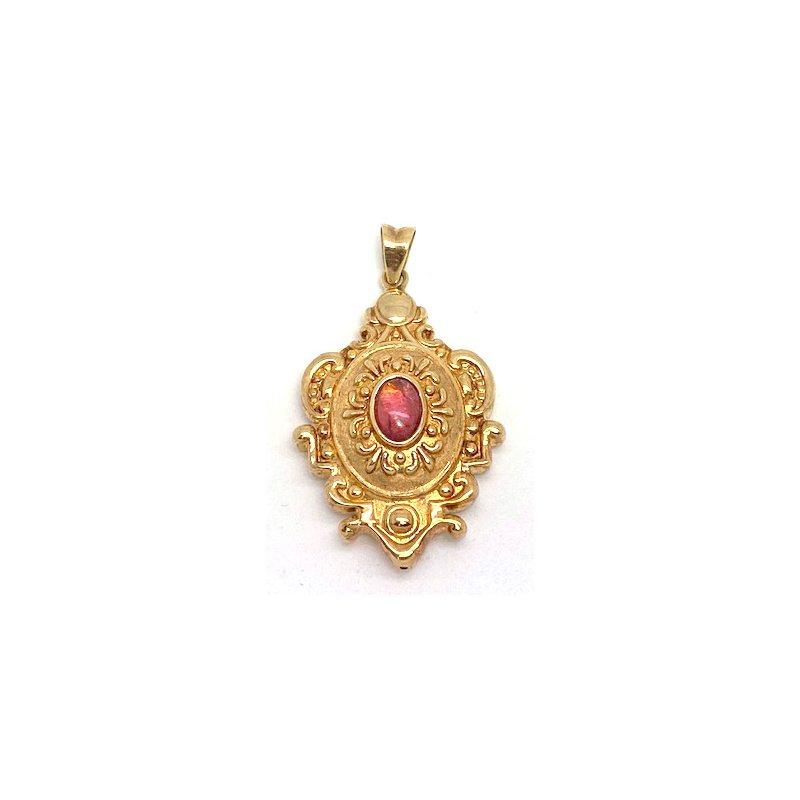 Estate & Vintage Lady's vintage tourmaline and yellow gold pendant