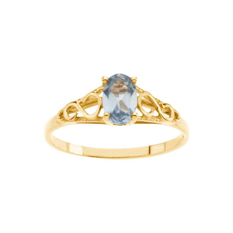 Birthstone Jewelry Teen Imitation March Birthstone Ring