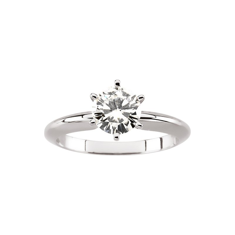 Ladies' Jewelry Moissanite Solitaire Engagement Ring