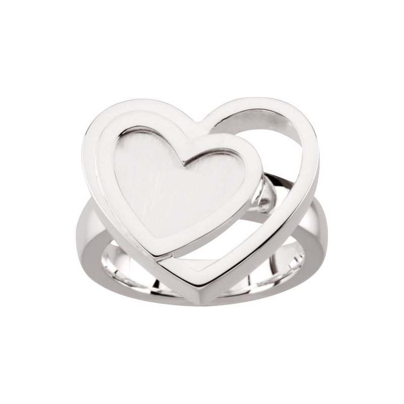 Ladies' Jewelry Sterling Silver Heart Ring