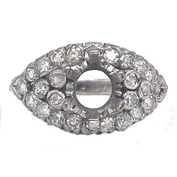 Diamond and White gold, vintage mounting