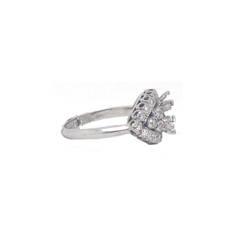 Vintage Bridal Diamond and White gold, vintage mounting