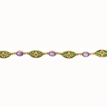 Vintage 18K Art Noveau Style Bracelet