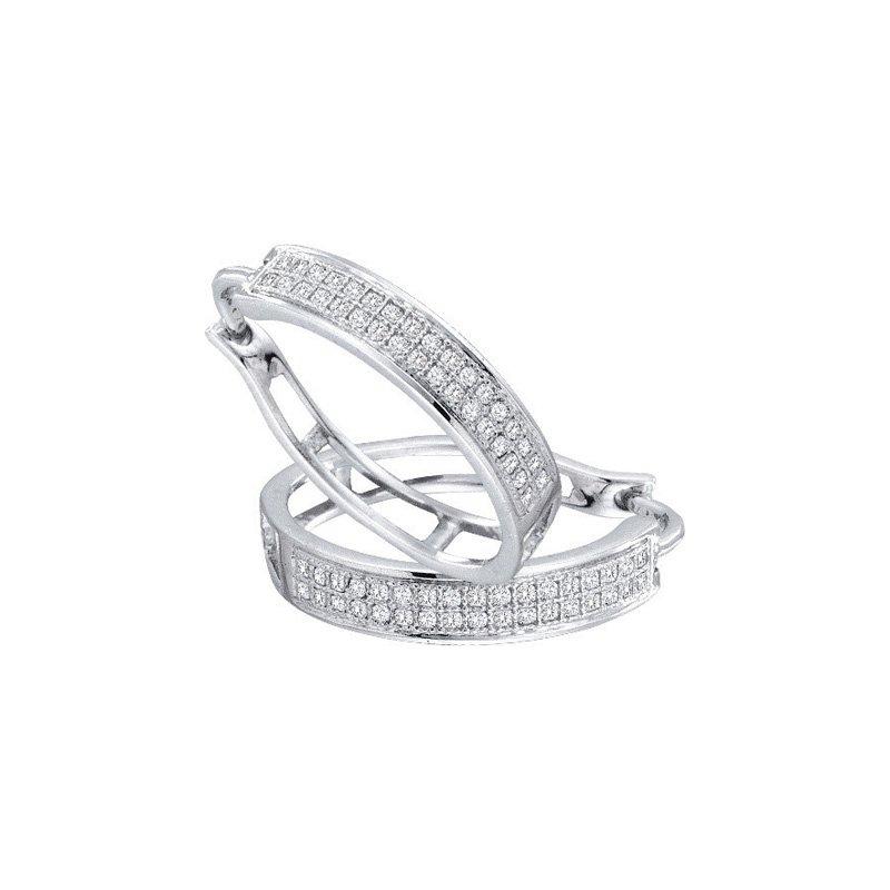 Valentine Gift Ideas Diamond Hoop Earrings