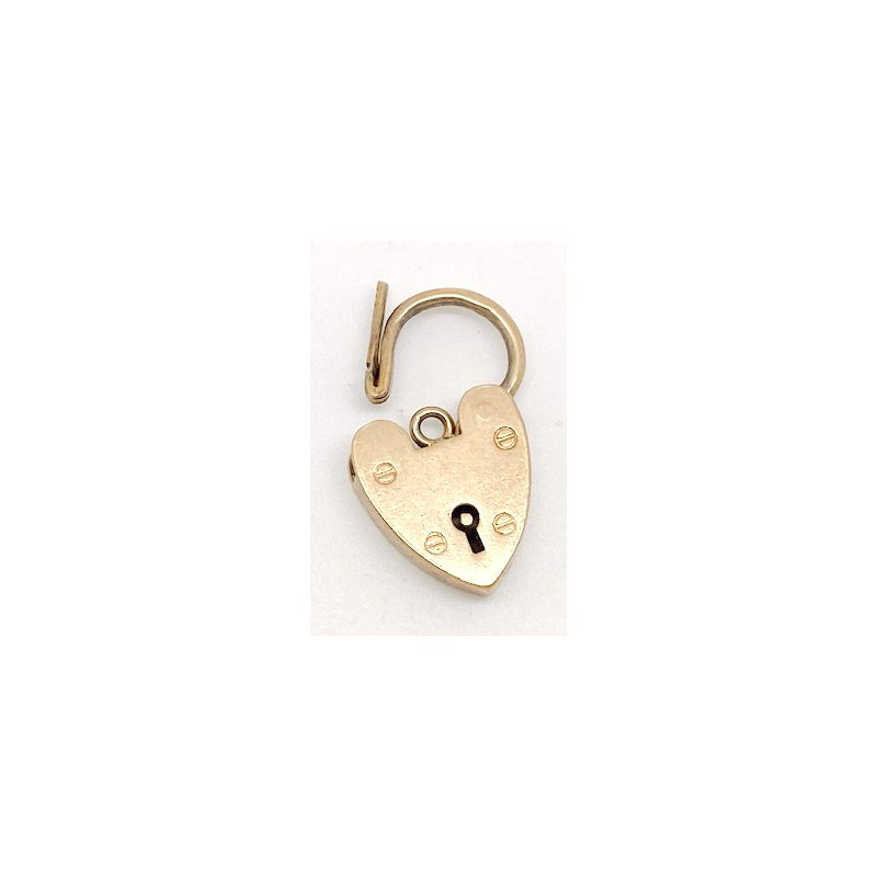 Estate & Vintage Vintage yellow gold heart lock pendant or clasp