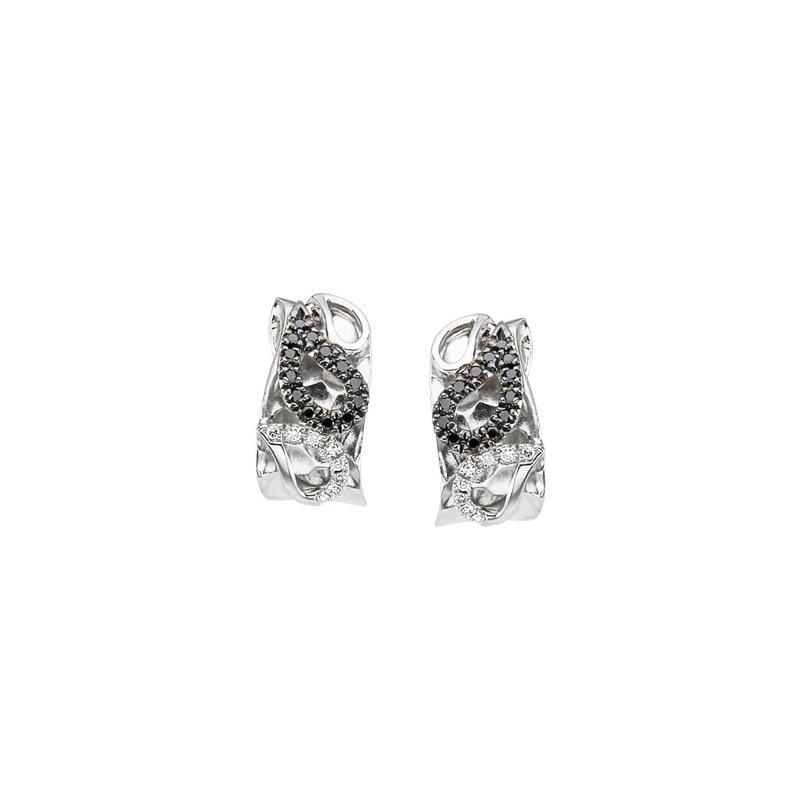 Ladies' Jewelry Black & White Diamond Earrings