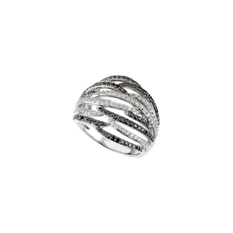 Holiday Ideas 1 ct tw Black & White Diamond Ring