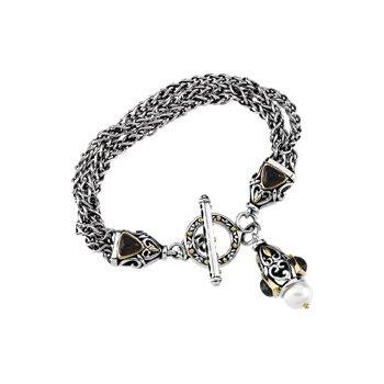Freshwater Cultured Pearl & Mozambique Garnet Bracelet