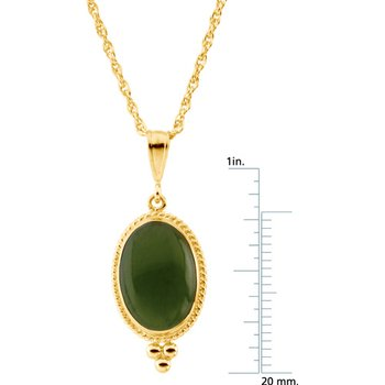 Genuine Jade Cabochon Necklace