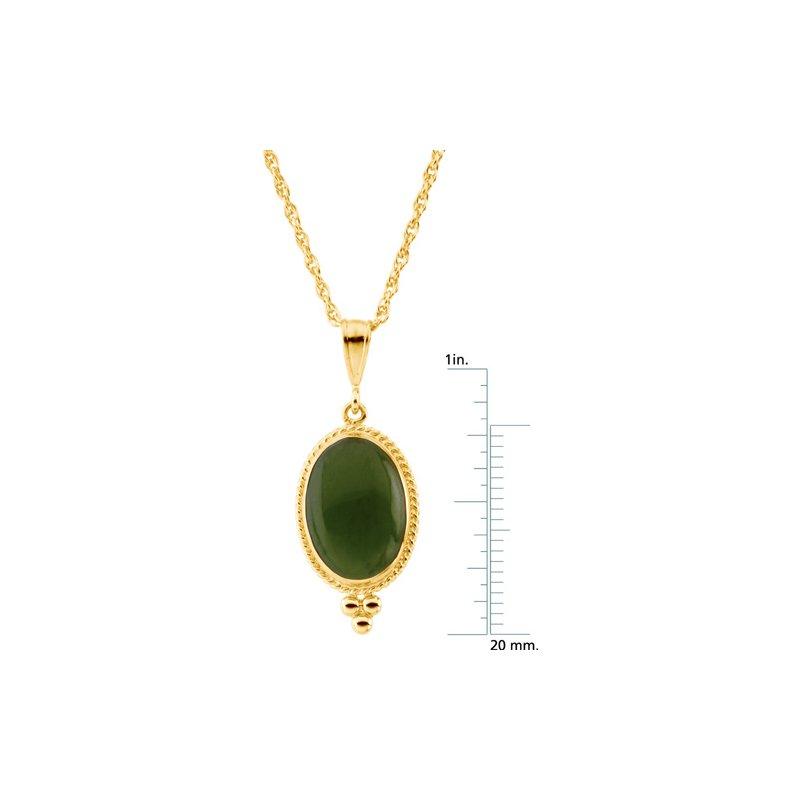 Ladies' Jewelry Genuine Jade Cabochon Necklace