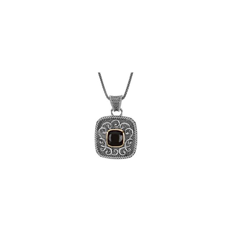 Ladies' Jewelry Genuine Onyx Necklace