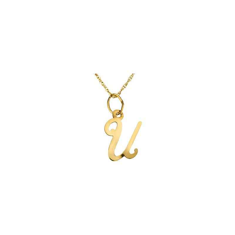 """Ladies' Jewelry Initial """"U"""" Necklace"""