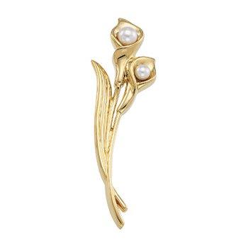 Akoya Cultured Pearl Flower Brooch