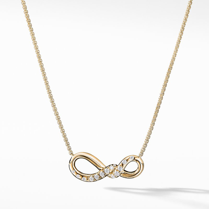David Yurman Continuance® Small Pendant Necklace with Diamonds in 18K Gold