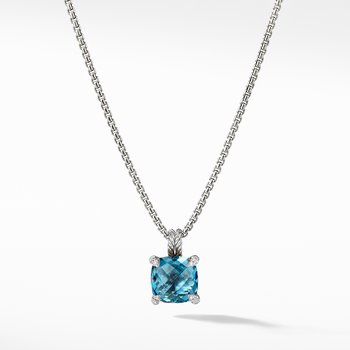 Pendant Necklace with Hampton Blue Topaz and Diamonds