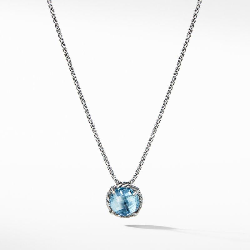 David Yurman Chatelaine® Pendant Necklace with Blue Topaz