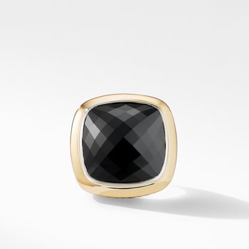 Albion® Statement Ring with 18K Gold and Black Onyx