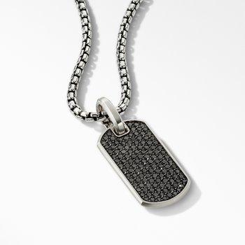 Streamline® Tag with Pavé Black Diamonds