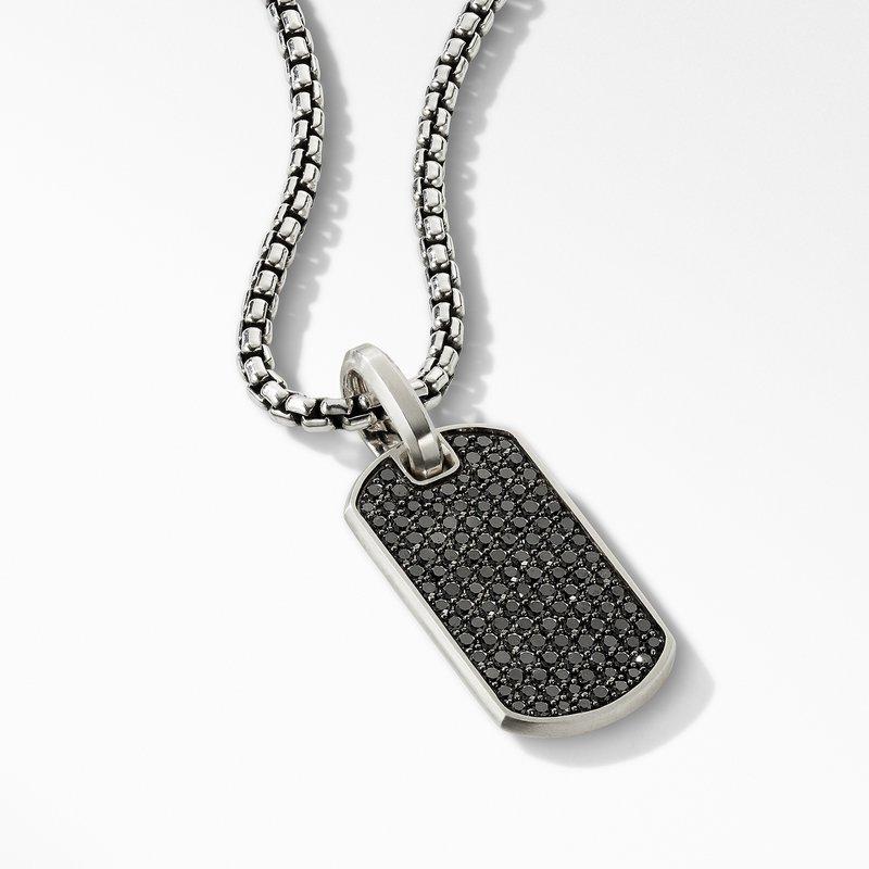 David Yurman Streamline® Tag with Pavé Black Diamonds